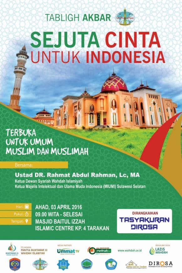 sejuta cinta untuk indonesia tarakan